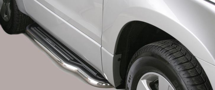 Misutonida stigtrinn Inox, 50mm, Suzuki Grand Vitara 3-dørs 05/08
