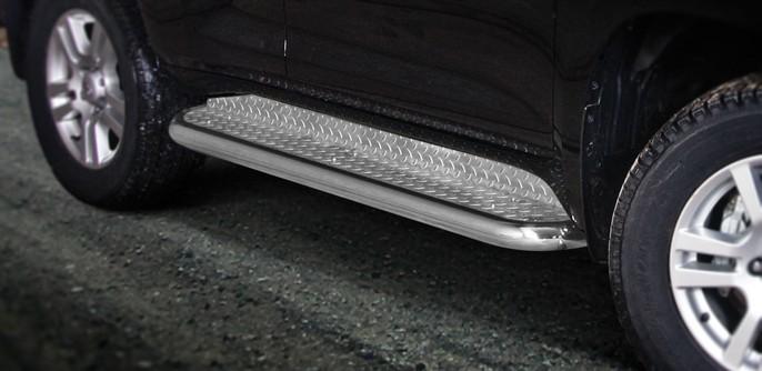 Stigtrinn Ø 70mm, m/blekkplate, Toyota LAND CRUISER 150, mod. 2010->2013