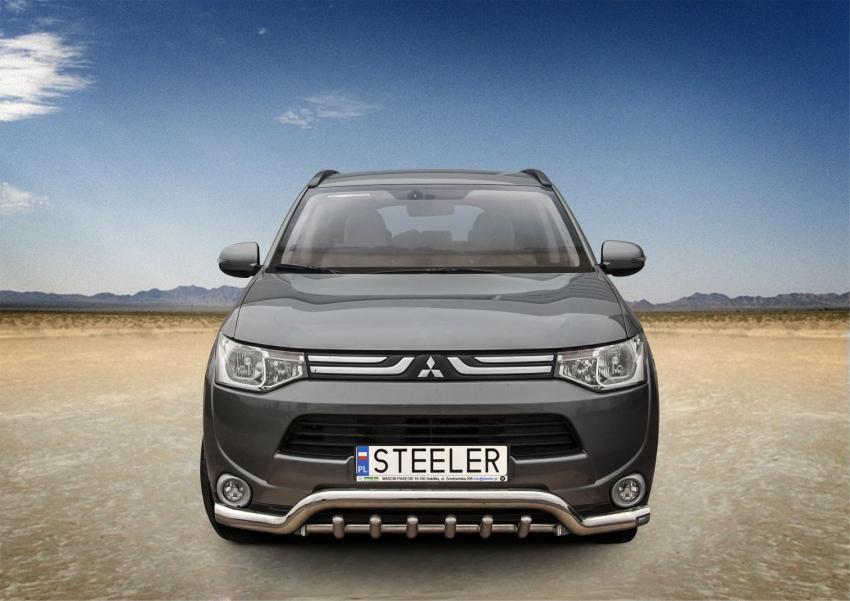 Spoiler Ø70 mm m/underkjørseksjon rør, Mitsubishi Outlander mod. 2012->2015