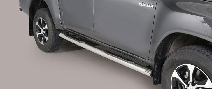 Misutonida kanalbeskyttere m/trinn, Ø 76mm, Toyota Hi Lux DC mod. 2016->