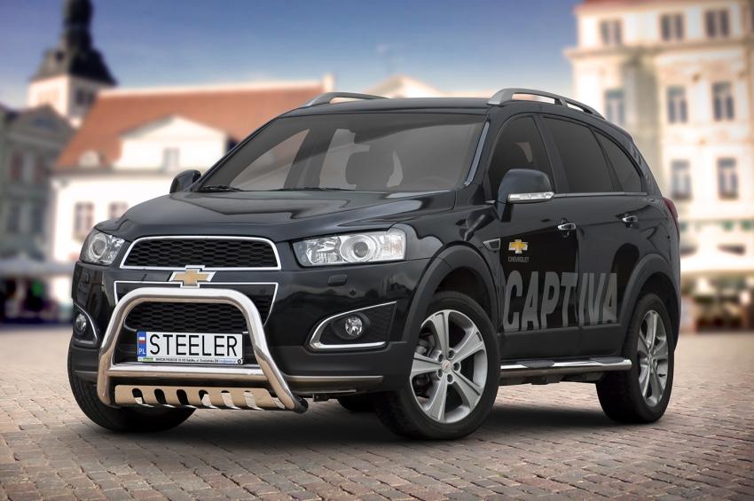 EU-Kufanger Ø 70mm, tverrør Ø 60mm, underkjørseksjon (blekkplate), Chevrolet Captiva mod. 2012->2015