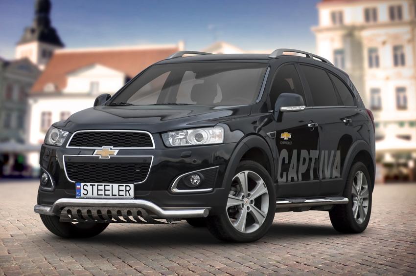 Spoilerrør, Ø 70mm, m/underkjørseksjon (blekkplate), Chevrolet Captiva mod. 2012->2015