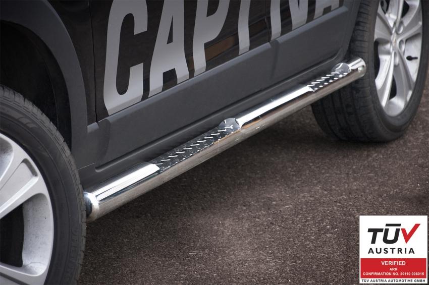 Kanalbeskytter Ø76 m/trinn, Chevrolet Captiva mod. 2012->2015