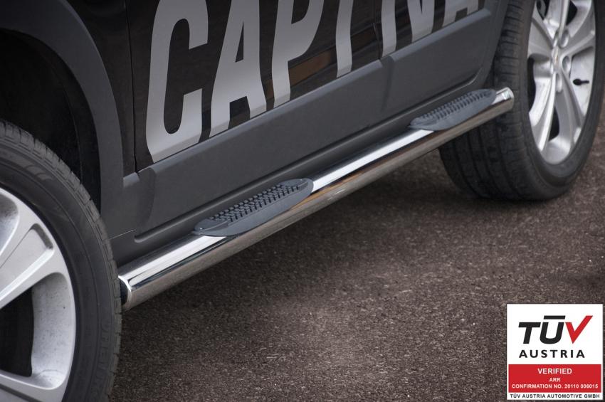 Kanalbeskyttere Ø 70mm, m/trinn i plast, Chevrolet Captiva mod. 2012->2015