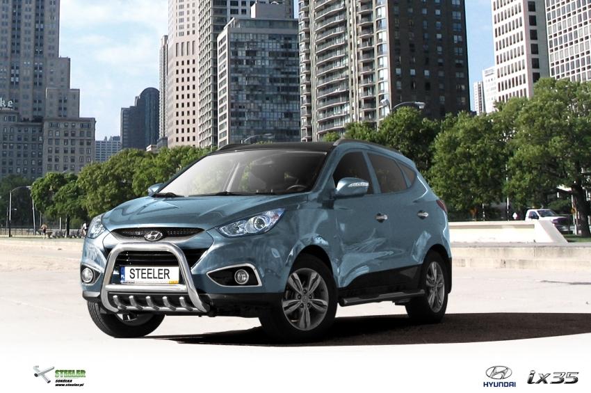 EU-Kufanger Ø 70mm, tverrør Ø 60mm, underkjørseksjon (rør), Hyundai IX35 mod. 2010->
