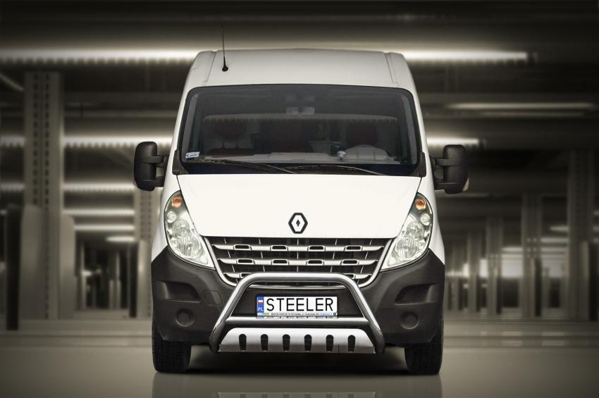 EU-Kufanger Ø 70mm, tverrør Ø 60mm, underkjørseksjon (blekkplate), Renault Master mod. 2010->