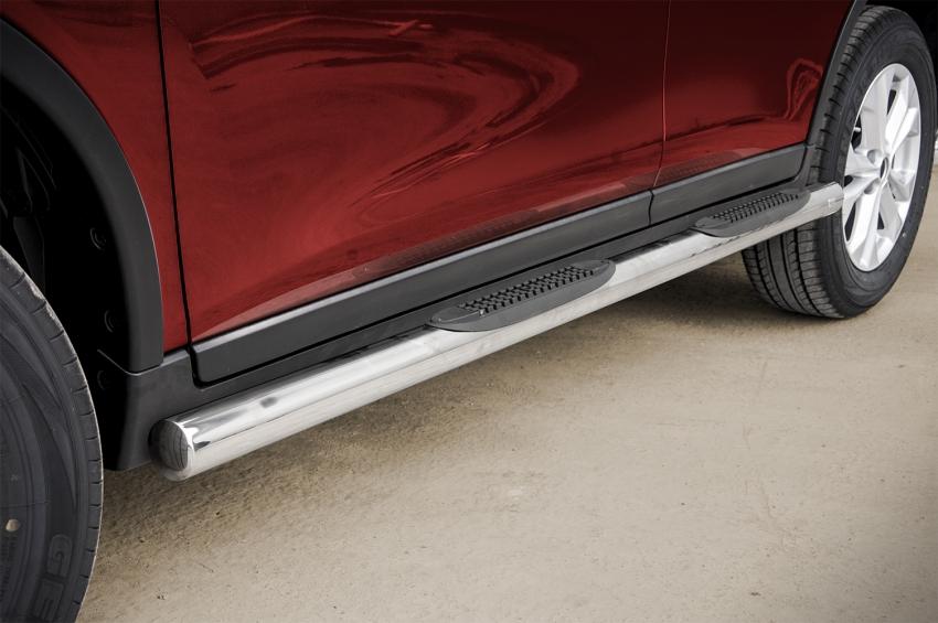 Kanalbeskyttere Ø 70mm, m/trinn i plast, Nissan X-TRAIL, mod. 2014->2017
