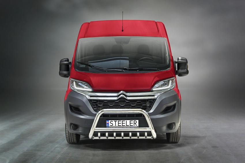 EU-Kufanger Ø 70mm, tverrør Ø 60mm, underkjørseksjon (rør), Citroën Jumper mod. 2006-2014-2016