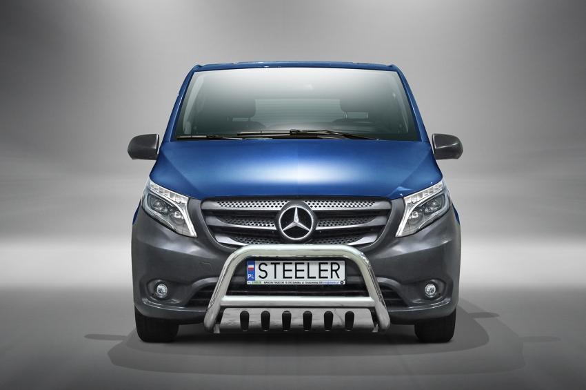 EU-Kufanger Ø 70mm, tverrrør Ø 60mm, m/underkjørseksjon blekk, Mercedes Vito, mod. 2014->