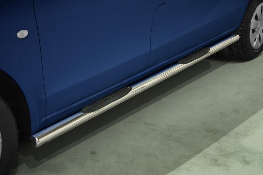 Kanalbeskyttere Ø 70mm m/plast-trinn, Mercedes V-Klasse SWB, mod. 2014->