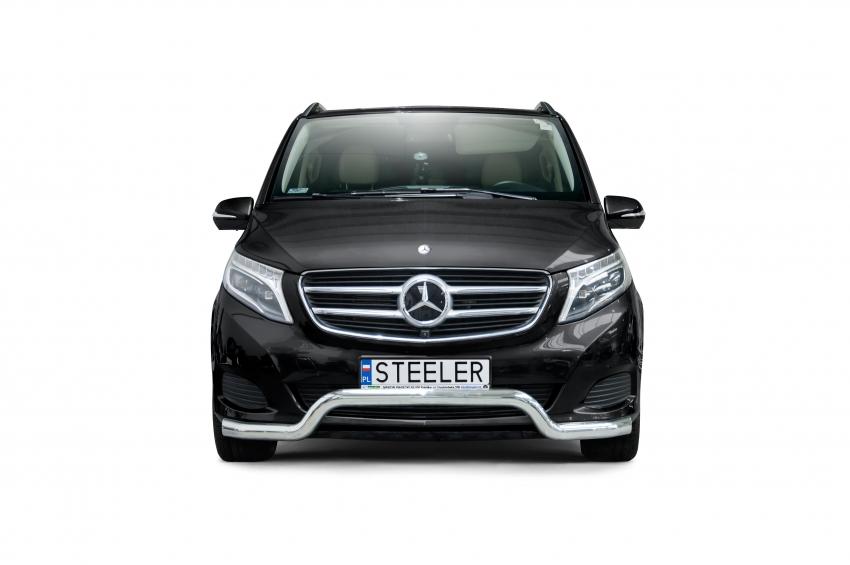 Spoilerrør, Ø 70mm, Mercedes V-Klasse, mod. 2014->