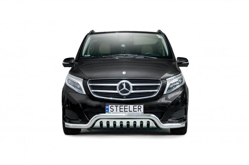 Spoilerrør, Ø 70mm, m/underkjørseksjon blekk, Mercedes V-Klasse, mod. 2014->