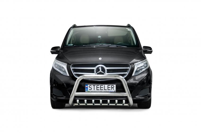 EU-Kufanger Ø 70mm, tverrrør Ø 60mm, m/underkjørseksjon rør, Mercedes V-Klasse, mod. 2014->