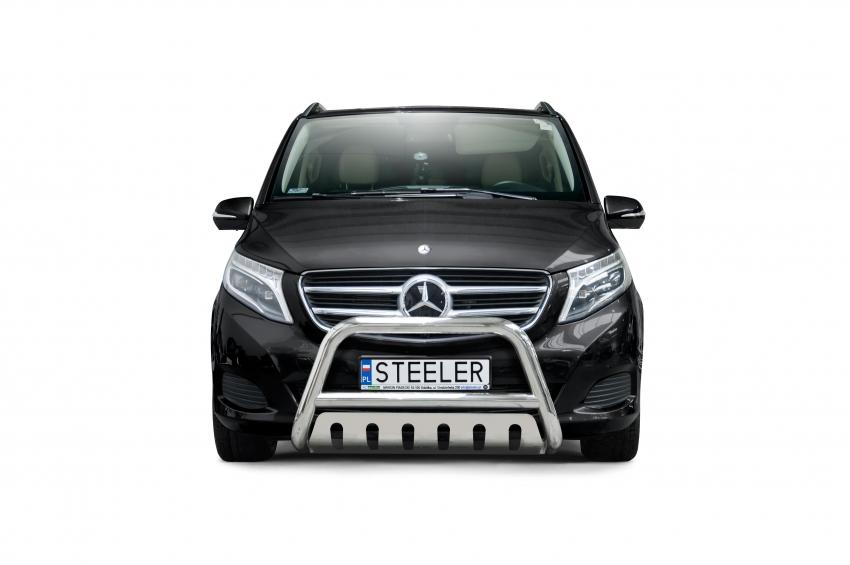 EU-Kufanger Ø 70mm, tverrrør Ø 60mm, m/underkjørseksjon blekk, Mercedes V-Klasse, mod. 2014->