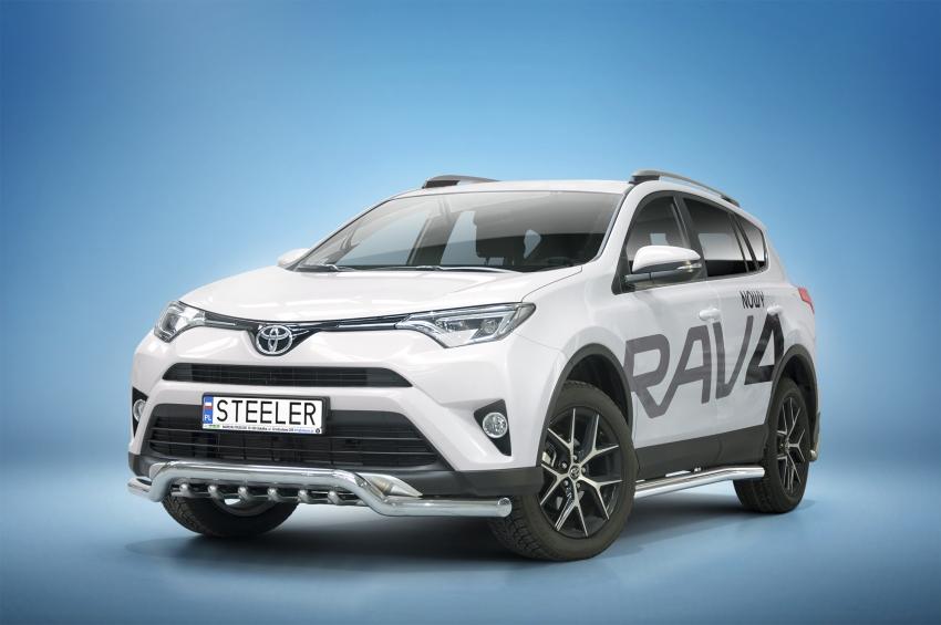 Spoilerrør, Ø 70mm, m/underkjørseksjon (rør), Toyota RAV4, mod. 2015 ->