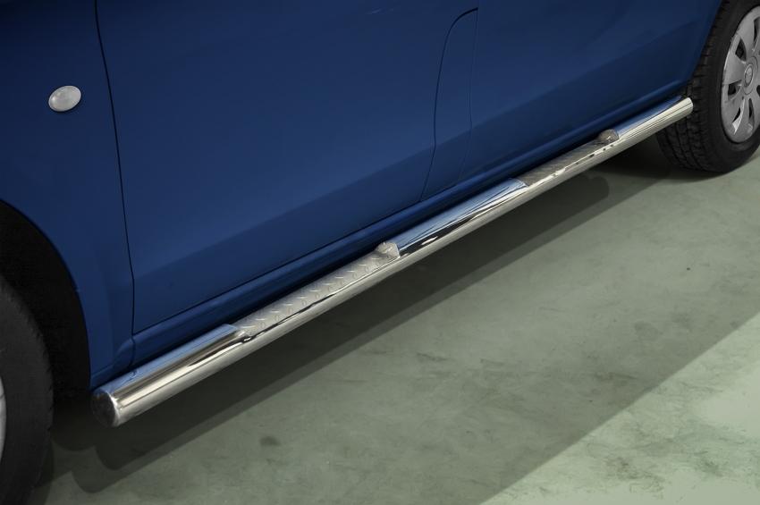 Kanalbeskyttere Ø 76mm m/trinn, Mercedes Vito (A3) ekstra lang, mod. 2014->