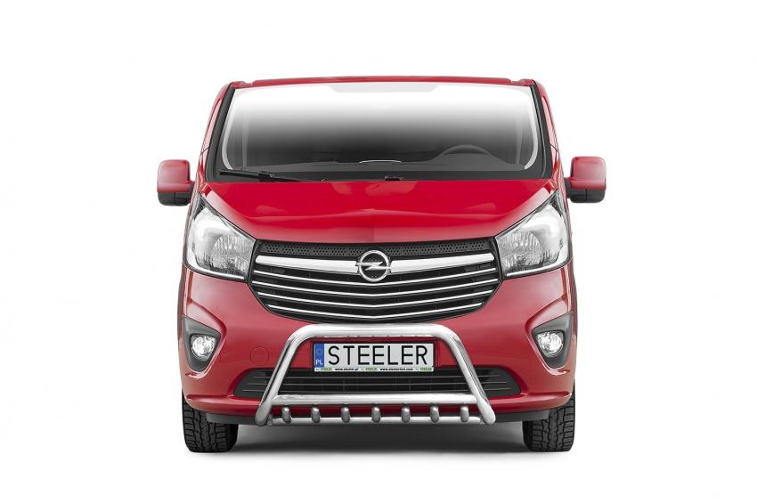EU-Kufanger Ø 60mm, tverrør Ø 48mm, underkjørseksjon (rør), Opel Vivaro mod. 2014->