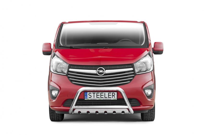EU-Kufanger Ø 60mm, tverrør Ø 48mm, underkjørseksjon (blekkplate), Opel Vivaro mod. 2014->