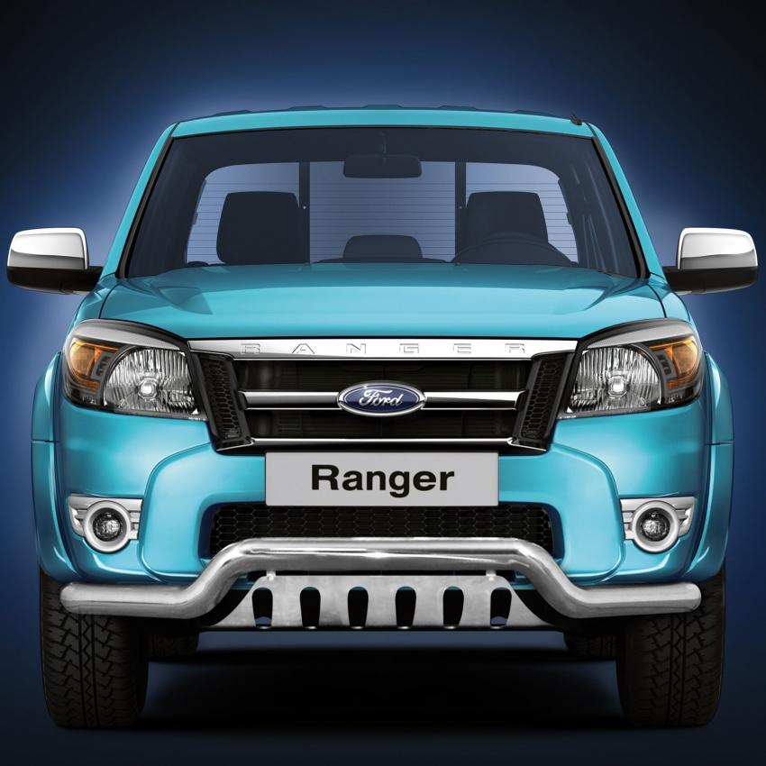Spoilerrør, Ø 70mm, m/underkjørseksjon (blekkplate), Ford Ranger mod. 2007->2012