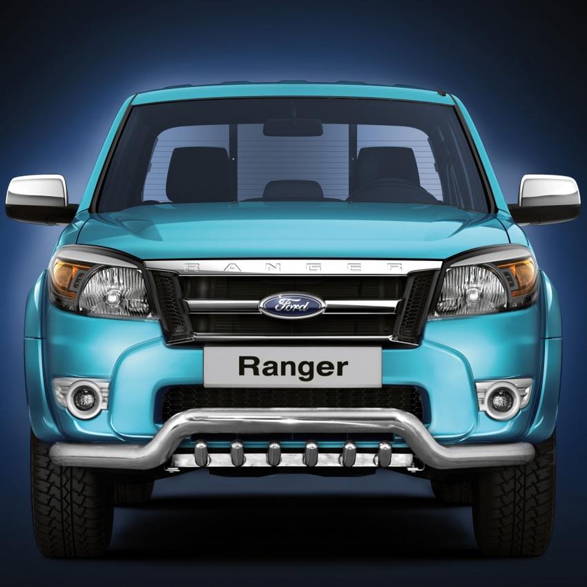 Spoilerrør, Ø 70mm, m/underkjørseksjon (rør) Ford Ranger mod. 2007->2012