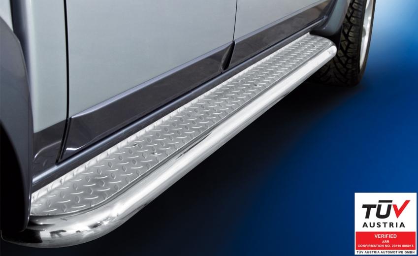 Stigtrinn Ø 60mm, m/metallplate,  Ford Ranger mod. 2007->2012