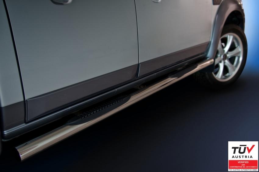 Kanalbeskyttere Ø 70mm, m/trinn i plast, Ford Ranger mod. 2007->2012