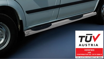 Kanalbeskyttere Ø 70mm, m/trinn i plast, Ford Transit, mod. 2006->2014