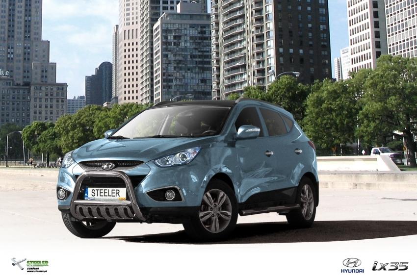 EU-Kufanger Ø 70mm, tverrør Ø 60mm, underkjørseksjon (blekkplate), Hyundai IX35 mod. 2010->