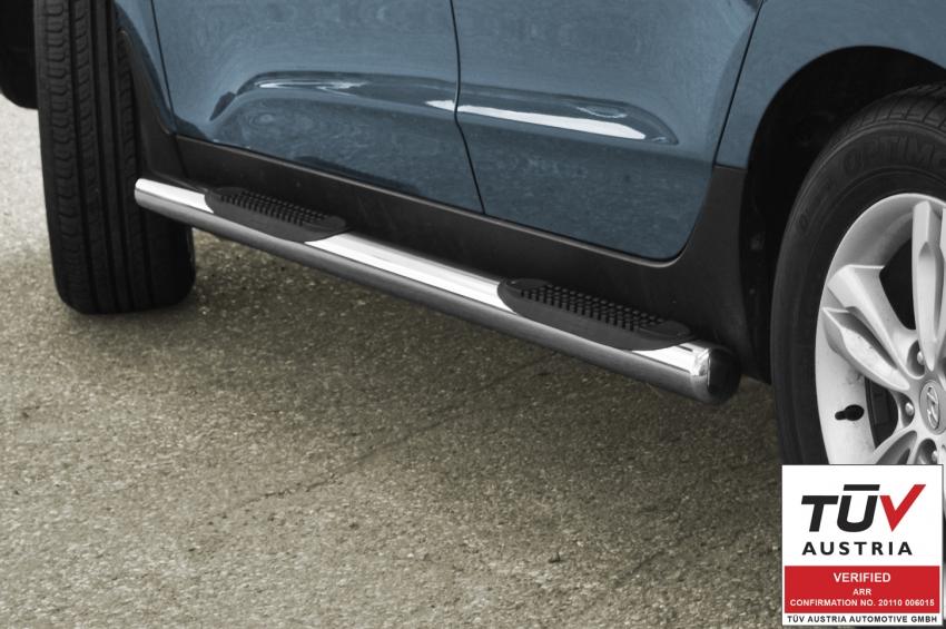 Kanalbeskyttere Ø 70mm, m/trinn i plast, Hyundai IX35 mod. 2010->