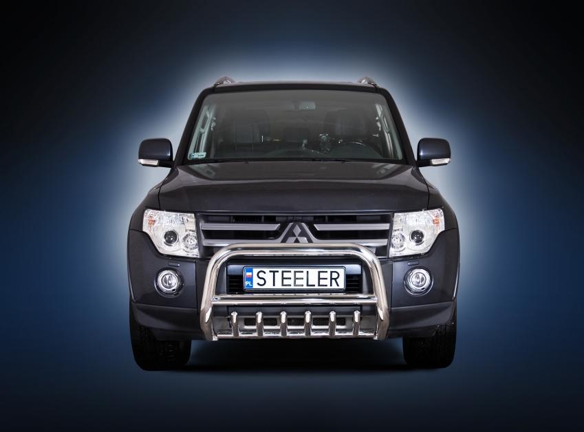 EU-kufanger Ø 70mm, m/underkjørseksjon, rør, Mitsubishi Pajero mod. 2007->2014
