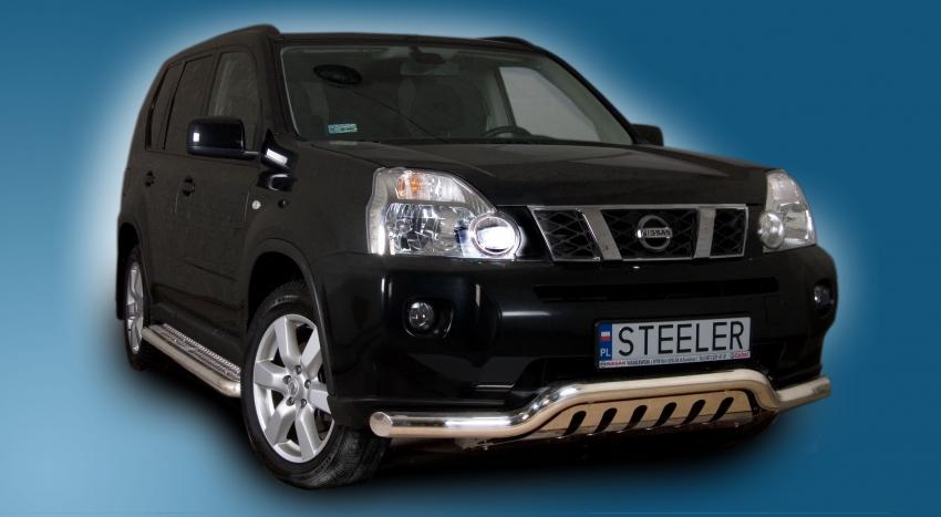 Spoilerrør, Ø 70mm, m/underkjørseksjon (blekkplate), Nissan X-TRAIL mod. 2010->2014
