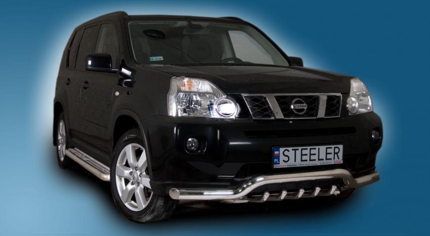 Spoilerrør, Ø 70mm, m/underkjørseksjon (rør) Nissan X-TRAIL mod. 2010->2014