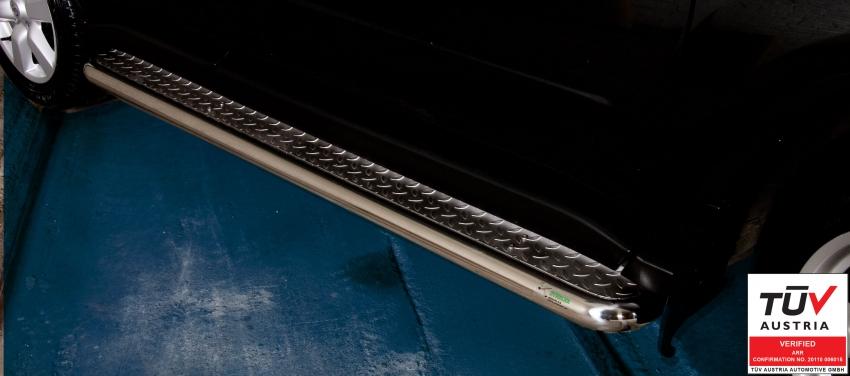 Stigtrinn Ø 60mm, m/metallplate,  Nissan X-TRAIL mod. 2010->2014
