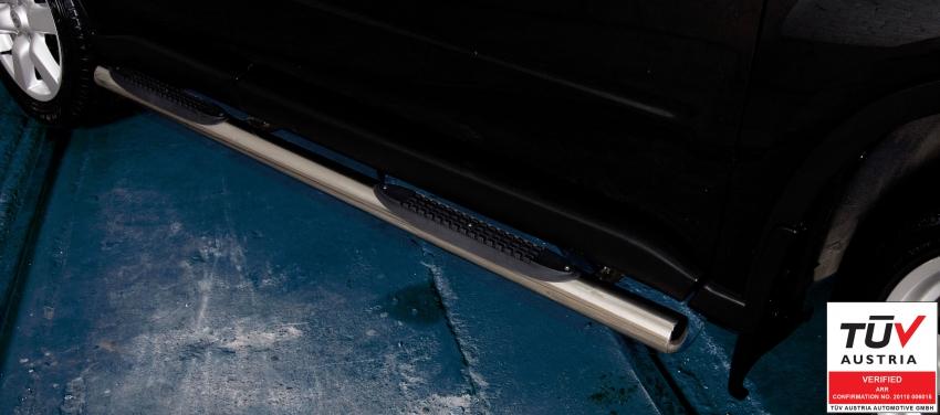 Kanalbeskyttere Ø 70mm, m/trinn i plast, Nissan X-TRAIL, mod. 2010->2014