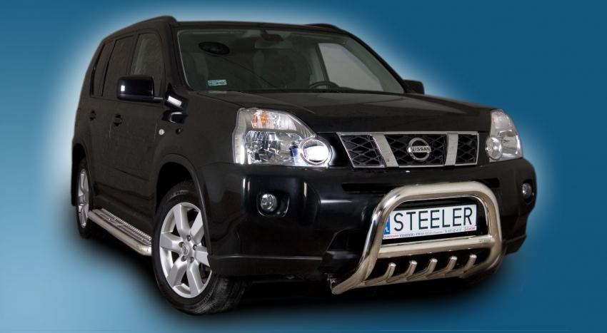 EU-Kufanger Ø 70mm, tverrør Ø 60mm, underkjørseksjon (rør), Nissan X-TRAIL mod. 2007->2010