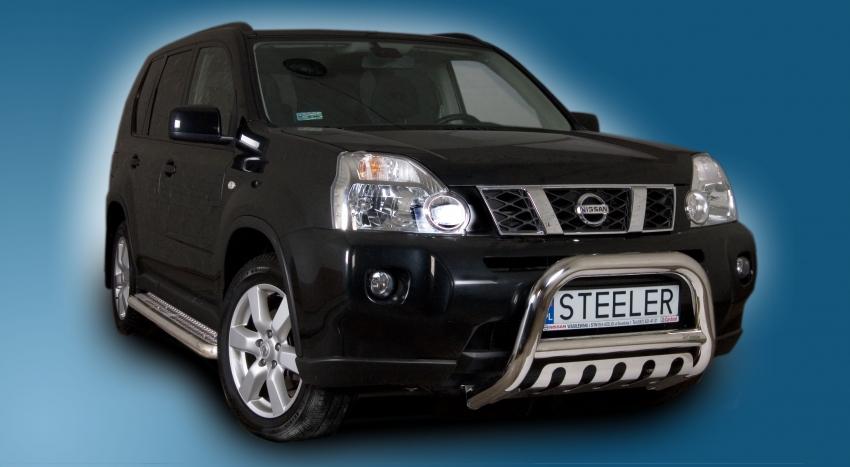EU-Kufanger Ø 70mm, tverrør Ø 60mm, underkjørseksjon (blekk), Nissan X-TRAIL mod. 2007->2010