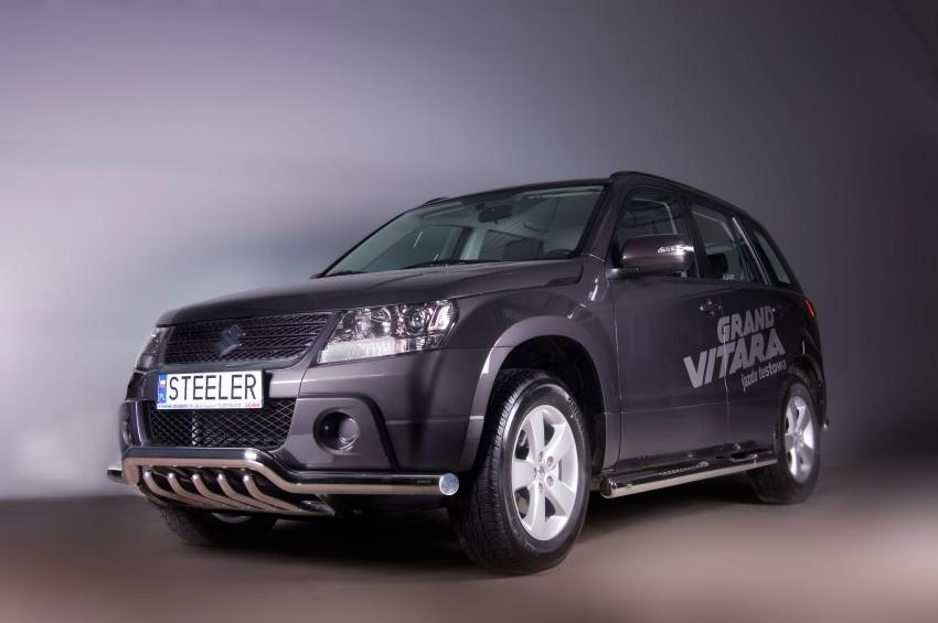 Spoilerrør, Ø 60mm, m/underkjørseksjon (rør), Suzuki Grand Vitara mod. 2012->2014