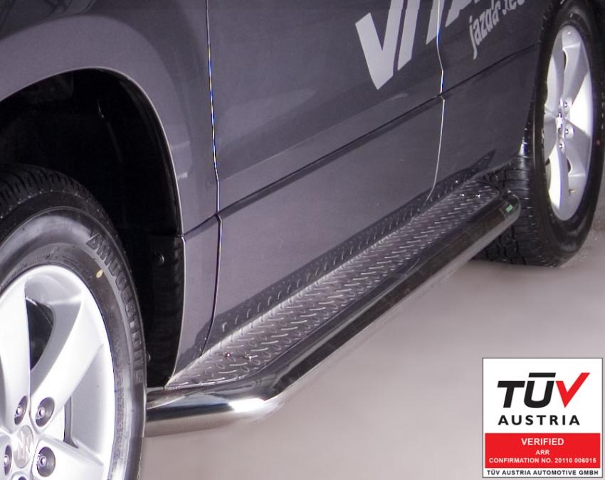 Stigtrinn Ø 70mm, m/metallplate,   Suzuki Grand Vitara mod. 2012->2014
