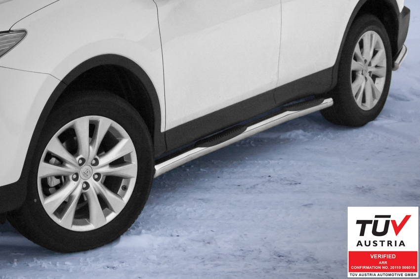 Kanalbeskyttere Ø 70mm, m/trinn i plast, Toyota RAV4, mod. 2013->2015