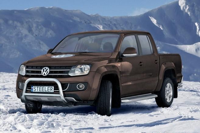 EU-Kufanger m/tverrrør, Ø 70mm/Ø 60mm, VW Amarok, mod. 2010->2016