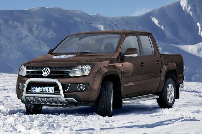 EU-Kufanger  m/underkjørseksjon, rør, Ø 70mm, VW Amarok, mod. 2010->2016