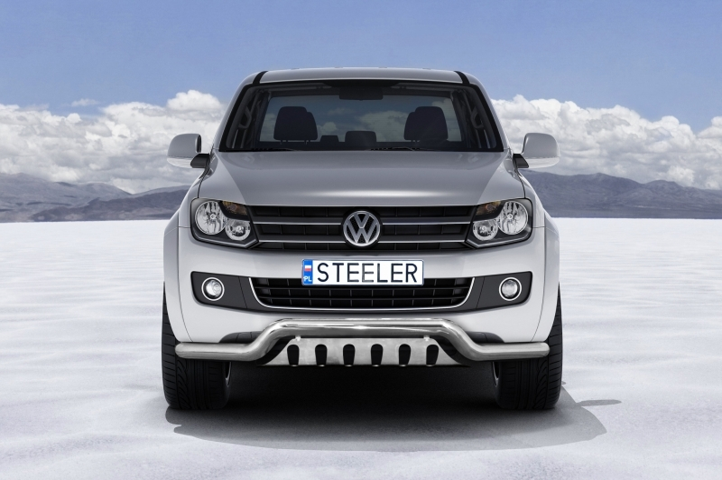 Frontspoiler  m/underkjørseksjon blekkplate, Ø 76mm, VW Amarok mod. 2010->2016
