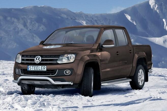 Frontspoiler, Ø 76mm, VW Amarok mod. 2010->2016
