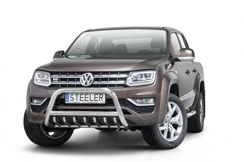 EU-Kufanger  m/underkjørseksjon, rør, Ø 70mm, VW Amarok, mod. 2016->