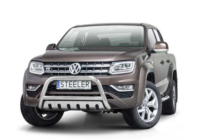 EU-Kufanger  m/underkjørseksjon blekkplate, Ø 70mm, VW Amarok V6, mod. 2016->