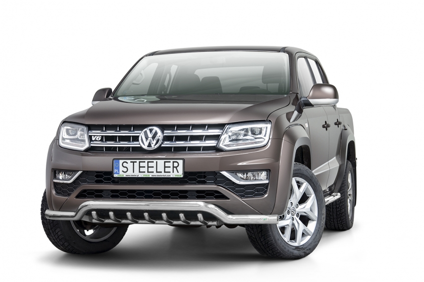 Frontspoiler  m/underkjørseksjon, rør, Ø 70mm, VW Amarok V6, mod. 2016->