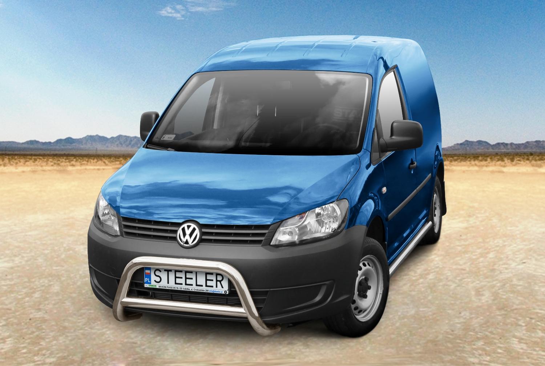 Sort EU-Kufanger m/tverrør Ø 70mm/Ø 60mm, VW CADDY mod. 2010->2015->