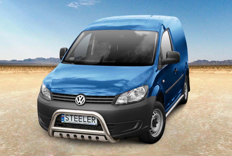 Sort EU-Kufanger Ø 70mm/Ø 60mm, underkjørseksjon (blekkplate), VW CADDY mod. 2010->2015->
