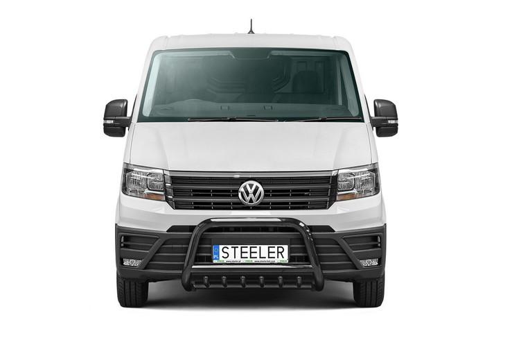 Sort EU-Kufanger Ø 70mm, tverrør Ø 60mm, underkjørseksjon (rør), VW Crafter mod. 2017->