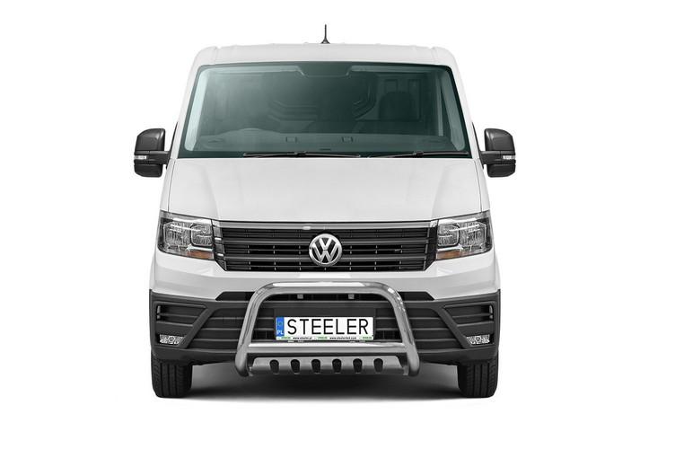 EU-Kufanger Ø 70mm, tverrør Ø 60mm, underkjørseksjon (blekkplate), VW Crafter mod. 2017->